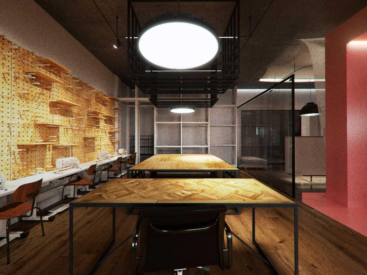 Foto inspirasi ide desain ruang kerja kontemporer Production room oleh TAU Architect di Arsitag