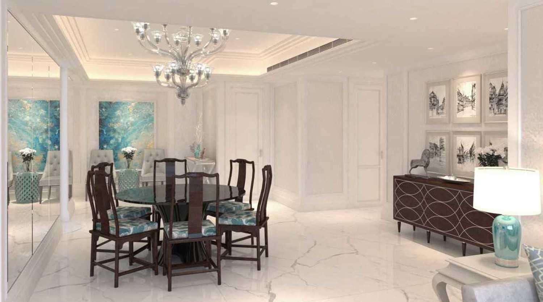 Foto inspirasi ide desain apartemen asian Dining room oleh Cross Space Interior di Arsitag