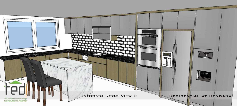 Foto inspirasi ide desain dapur modern Kitchen room view oleh Pd Teguh Desain Indonesia di Arsitag