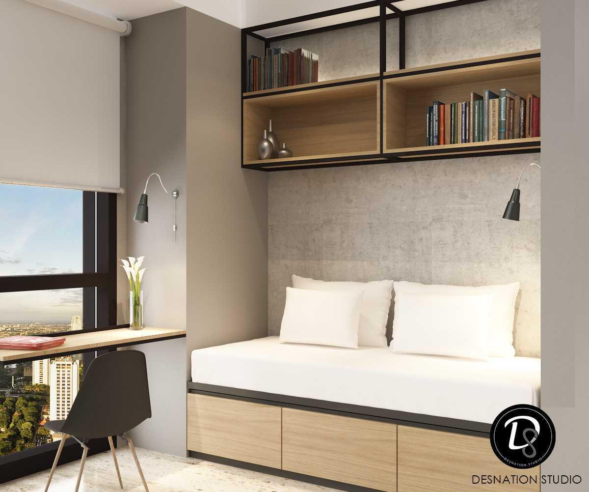 Foto inspirasi ide desain perpustakaan modern Reading area oleh Desnation Studio di Arsitag