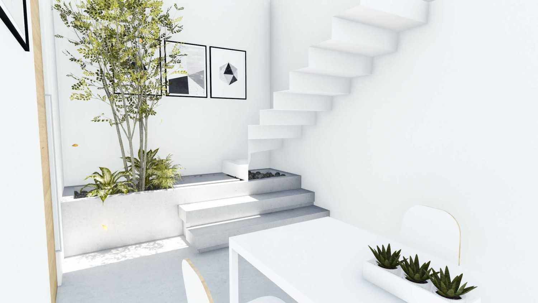 Foto inspirasi ide desain entrance minimalis Entrance area oleh DFORM di Arsitag