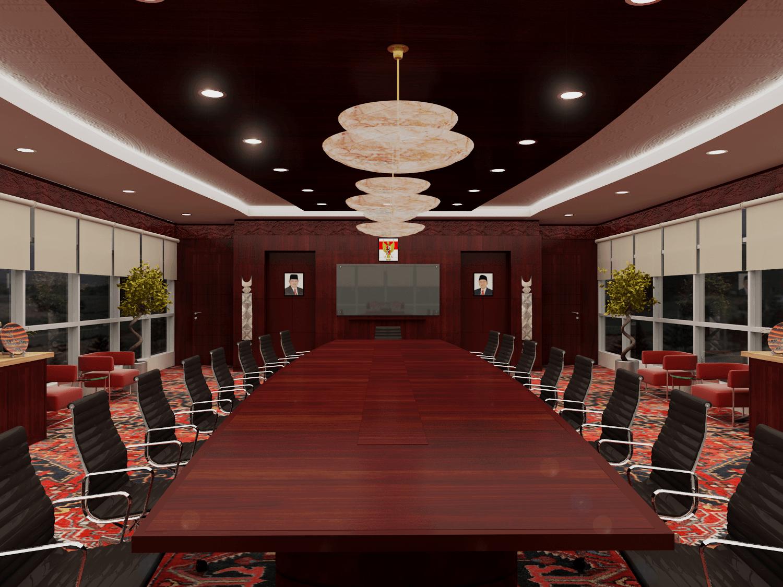 Foto inspirasi ide desain tradisional Ruang meeting pln cirata oleh Rinto Katili di Arsitag