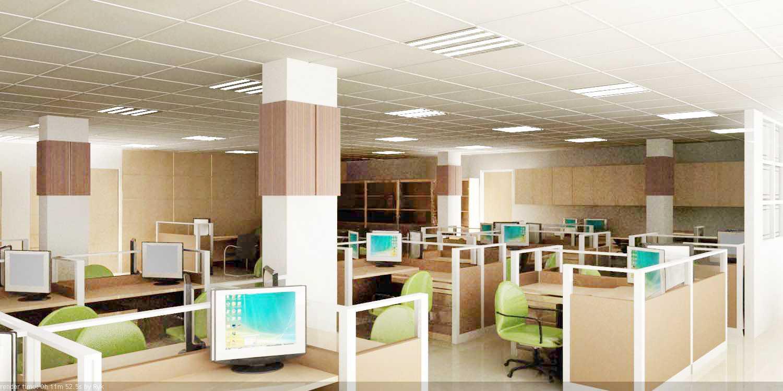 Foto inspirasi ide desain ruang kerja minimalis Workroom oleh Rinto Katili di Arsitag