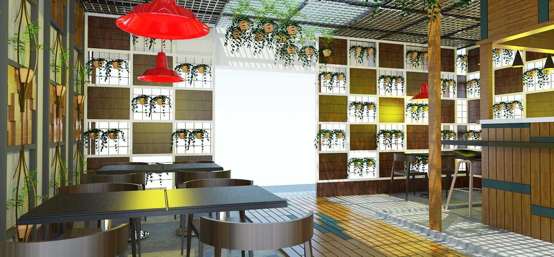 Foto inspirasi ide desain restoran tropis Entrance oleh Danu Ega di Arsitag