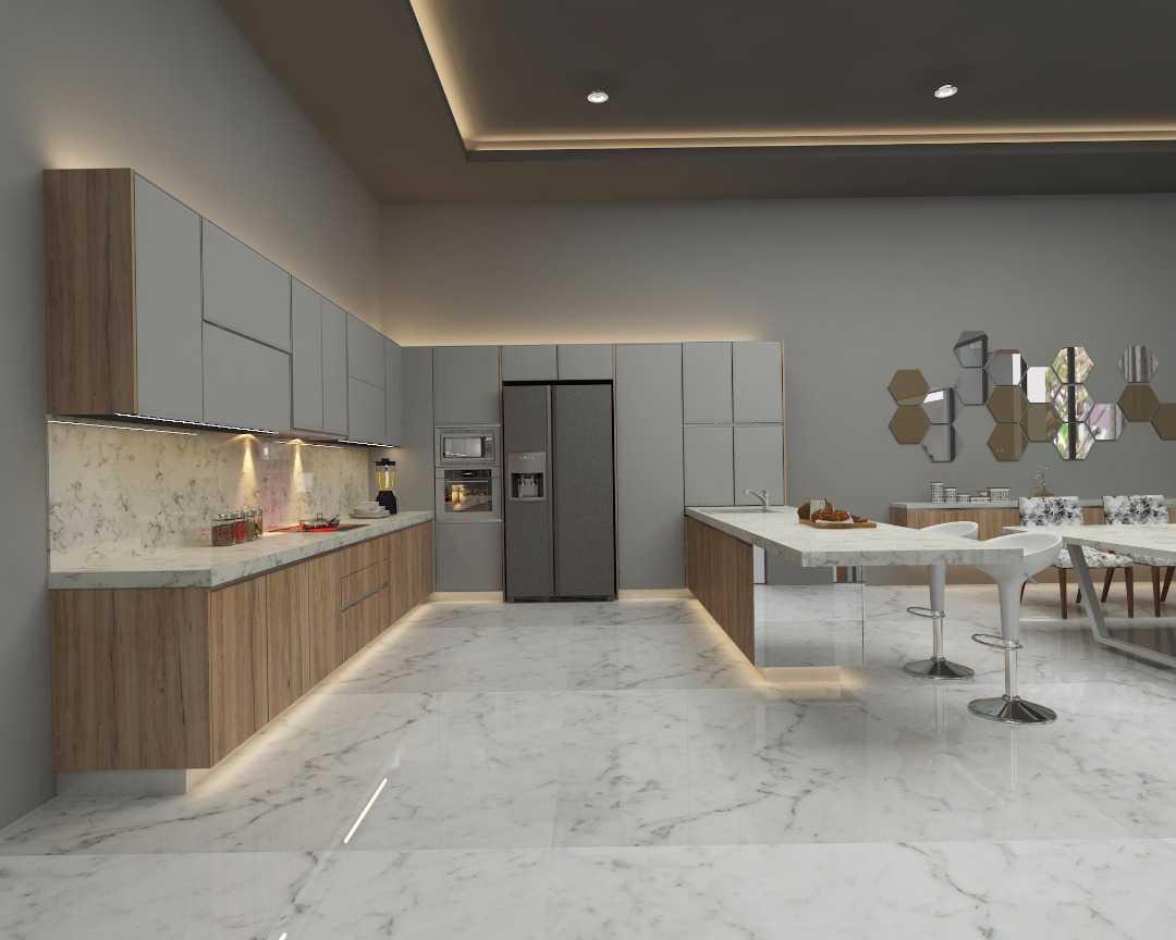 Foto inspirasi ide desain dapur tropis Kitchen area oleh PARADES Studio di Arsitag