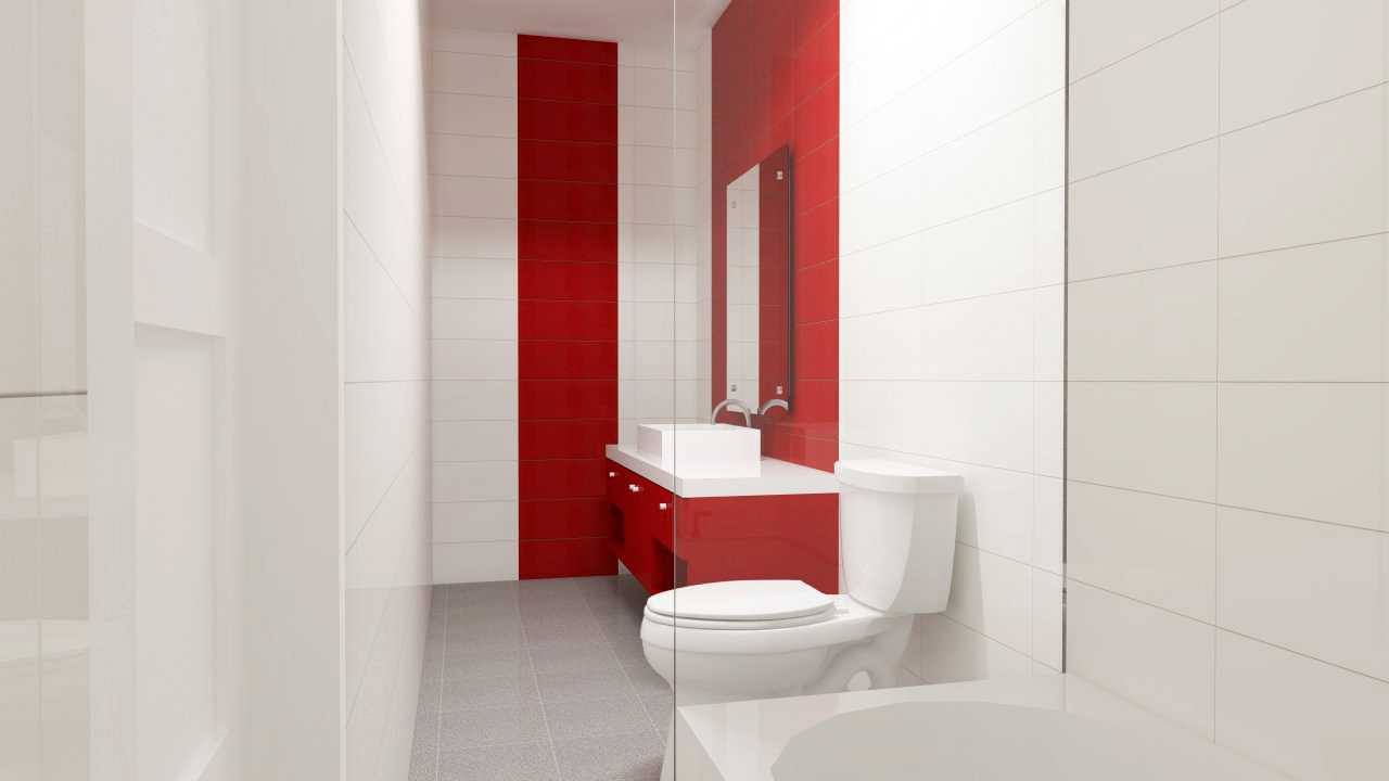 Foto inspirasi ide desain kamar mandi modern Bathroom oleh IDZ Architecture di Arsitag