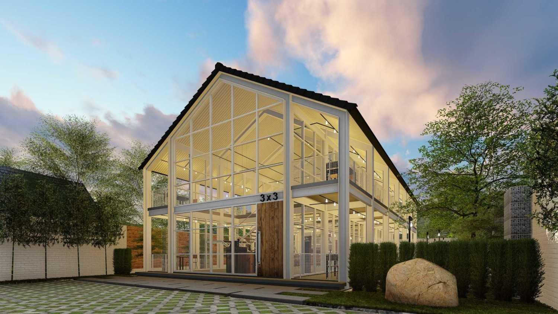 Foto inspirasi ide desain entrance industrial Front view oleh IDZ Architecture di Arsitag