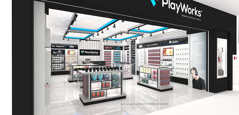 Foto inspirasi ide desain display area kontemporer Side view oleh David Atmacendana di Arsitag