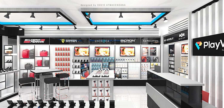 Foto inspirasi ide desain display area kontemporer Display layout oleh David Atmacendana di Arsitag