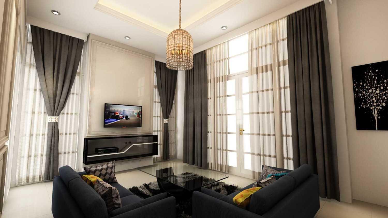 Foto inspirasi ide desain rumah victorian T's house living room oleh Tridivan Architama di Arsitag