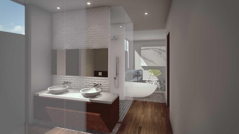 Foto inspirasi ide desain kamar mandi modern Interior master bathroom oleh Monoarch di Arsitag