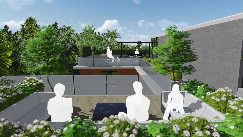 Foto inspirasi ide desain atap minimalis Roof garden oleh Monoarch di Arsitag