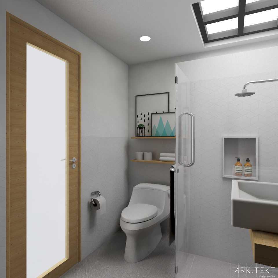 Foto inspirasi ide desain kamar mandi skandinavia Bathroom oleh ARK.TEKT design studio di Arsitag
