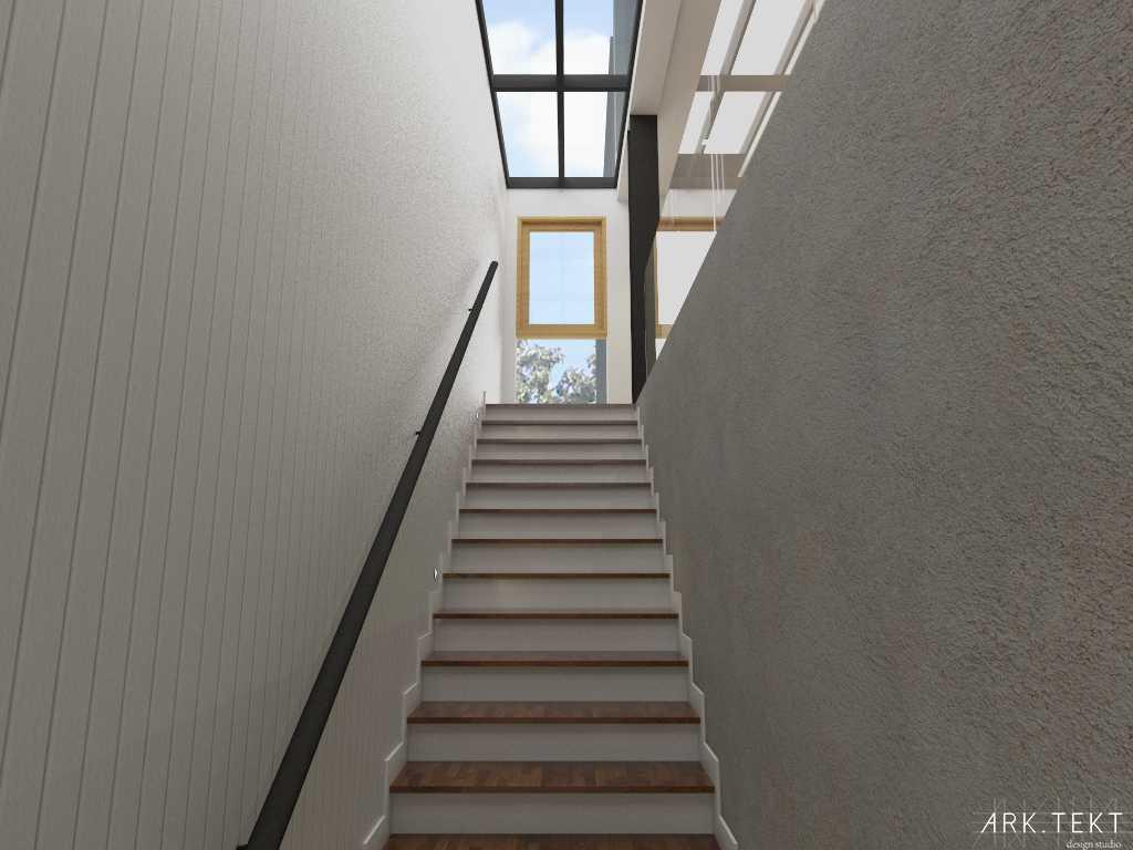 Foto inspirasi ide desain tangga skandinavia Staircase oleh ARK.TEKT design studio di Arsitag