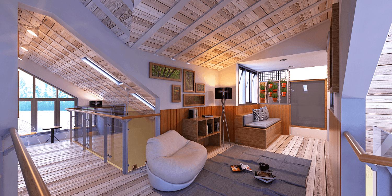 Foto inspirasi ide desain ruang keluarga skandinavia Family room oleh Panglima Bayuaji di Arsitag