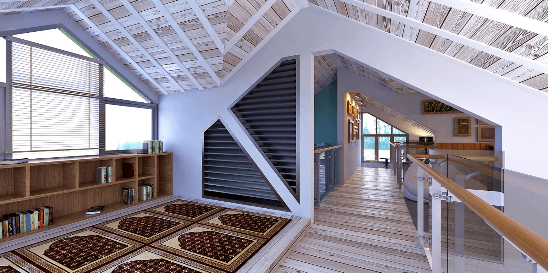 Foto inspirasi ide desain koridor skandinavia Corridor oleh Panglima Bayuaji di Arsitag