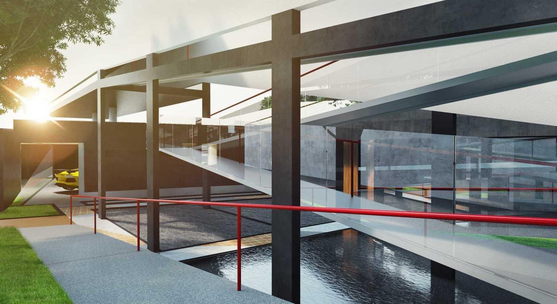Foto inspirasi ide desain garasi craftsman Ramp oleh SSOM STUDIO di Arsitag