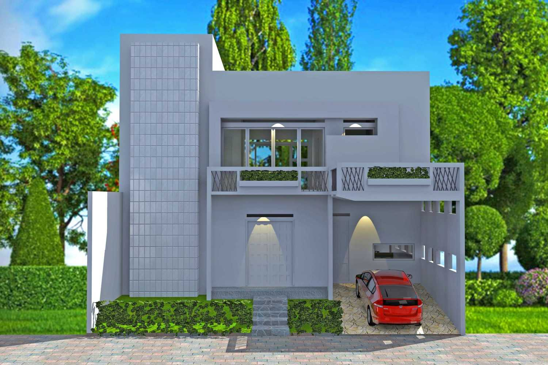 Foto inspirasi ide desain exterior asian Front view rendering oleh Smarchdesign12 di Arsitag