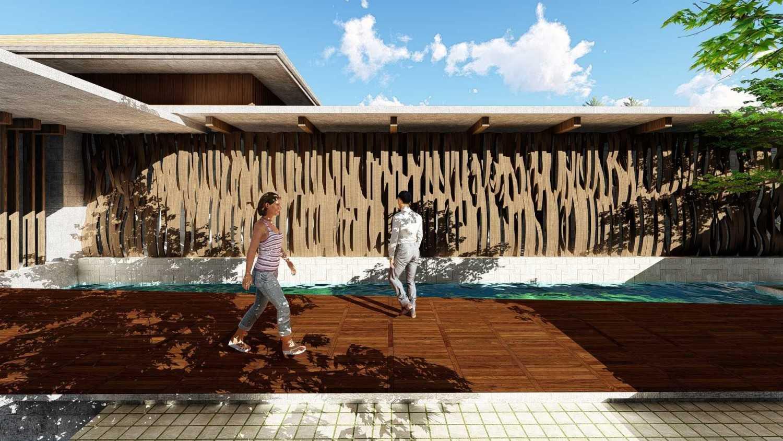 Foto inspirasi ide desain koridor tropis Outdoor corridor oleh Samitrayasa Design di Arsitag