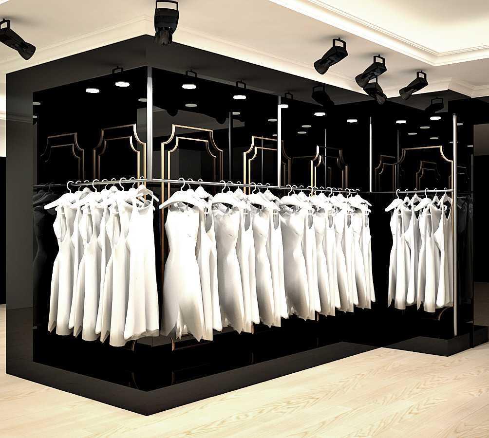 Foto inspirasi ide desain display area kontemporer Bridal-3-clasic-showroom-for-exclusive-collections oleh Rut lanty di Arsitag