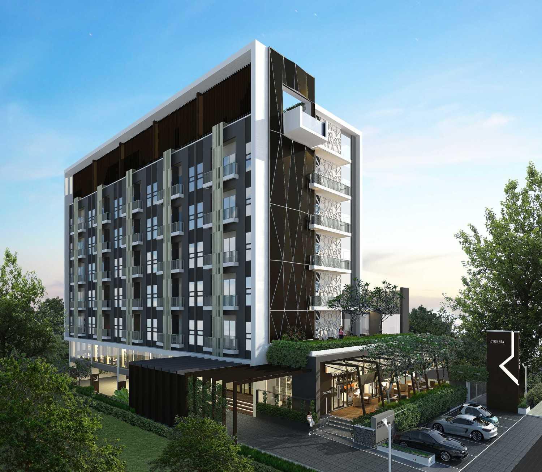 Foto inspirasi ide desain apartemen industrial Side view oleh Archwork di Arsitag