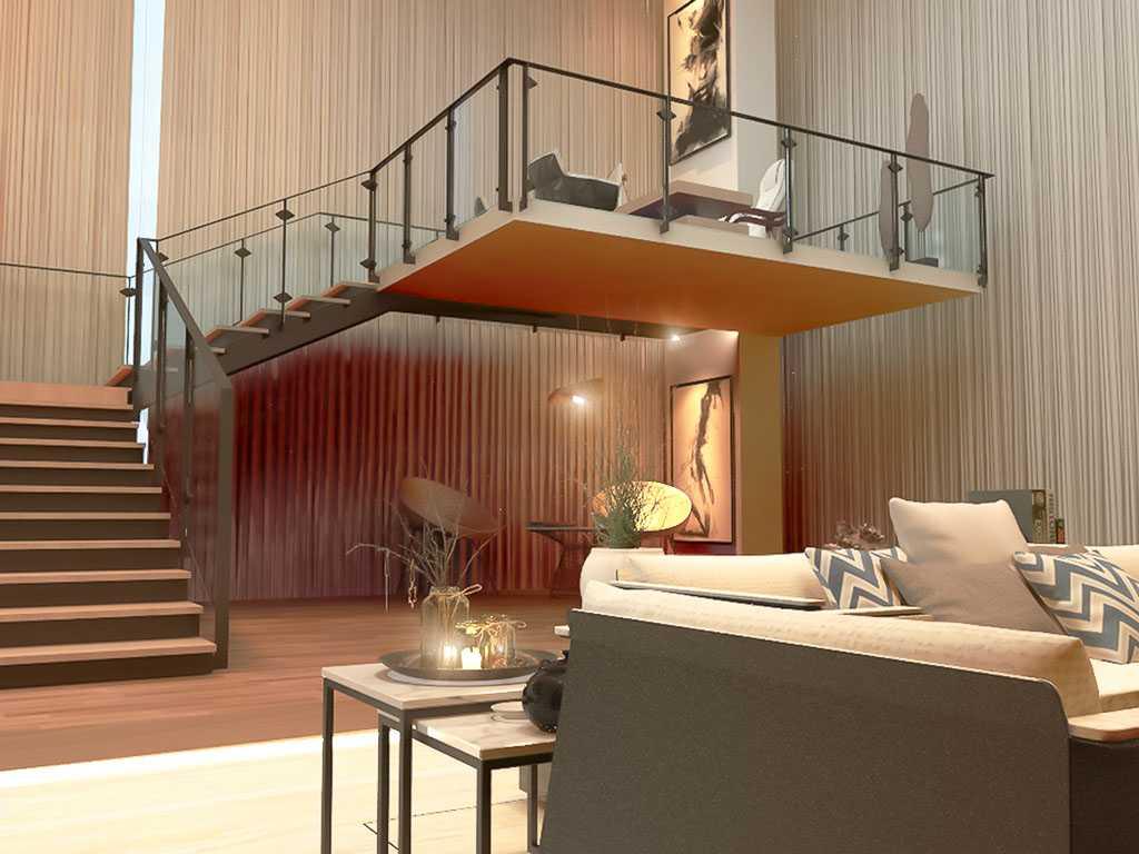 Foto inspirasi ide desain tangga skandinavia Staircase oleh VIcasso Interior di Arsitag