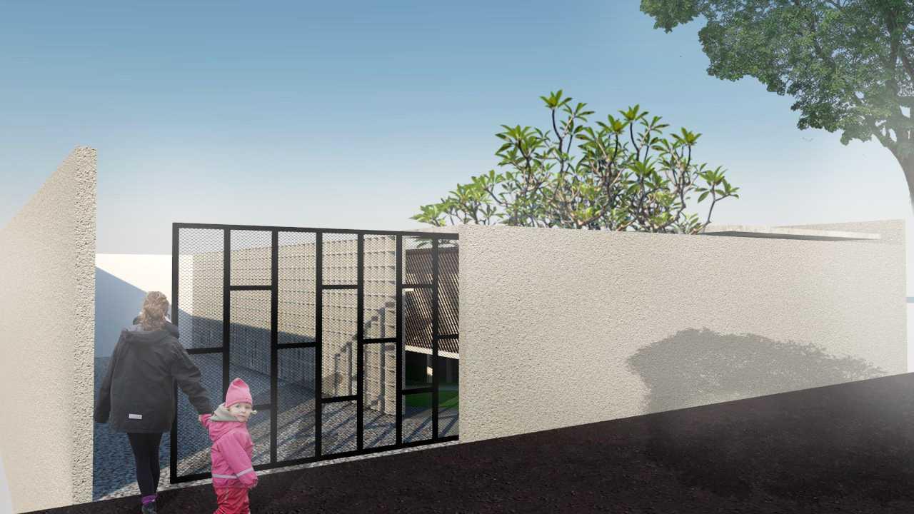Foto inspirasi ide desain entrance minimalis Entrance oleh Nanda Rachmawan di Arsitag