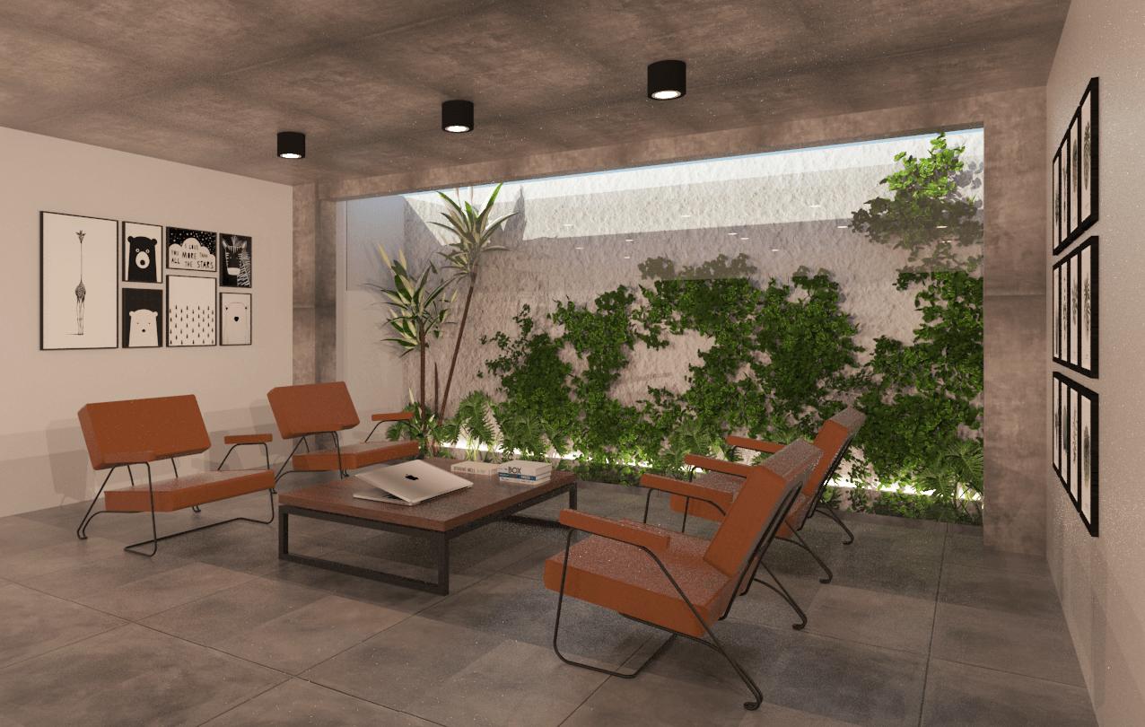 Foto inspirasi ide desain ruang meeting industrial Rehat living room office - meeting area oleh MTH STUDIO di Arsitag