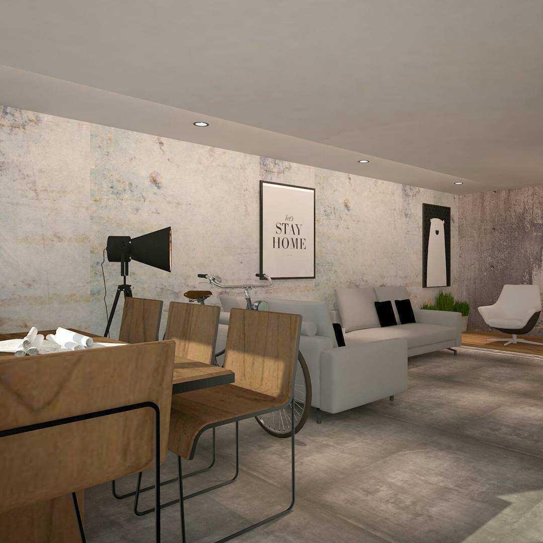 Foto inspirasi ide desain display area industrial Furniture showroom - display area oleh MTH STUDIO di Arsitag