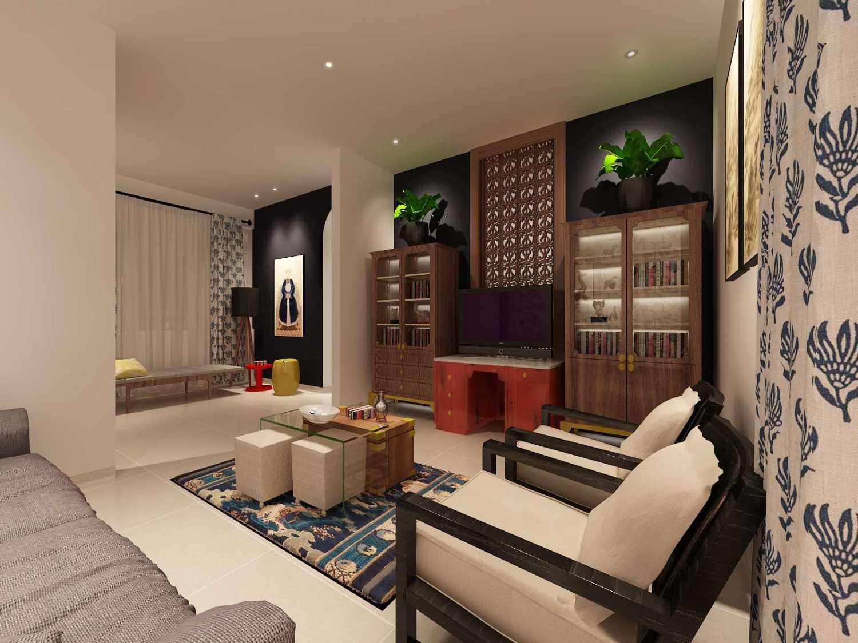 Foto inspirasi ide desain ruang keluarga eklektik Living room oleh Koerie Design di Arsitag