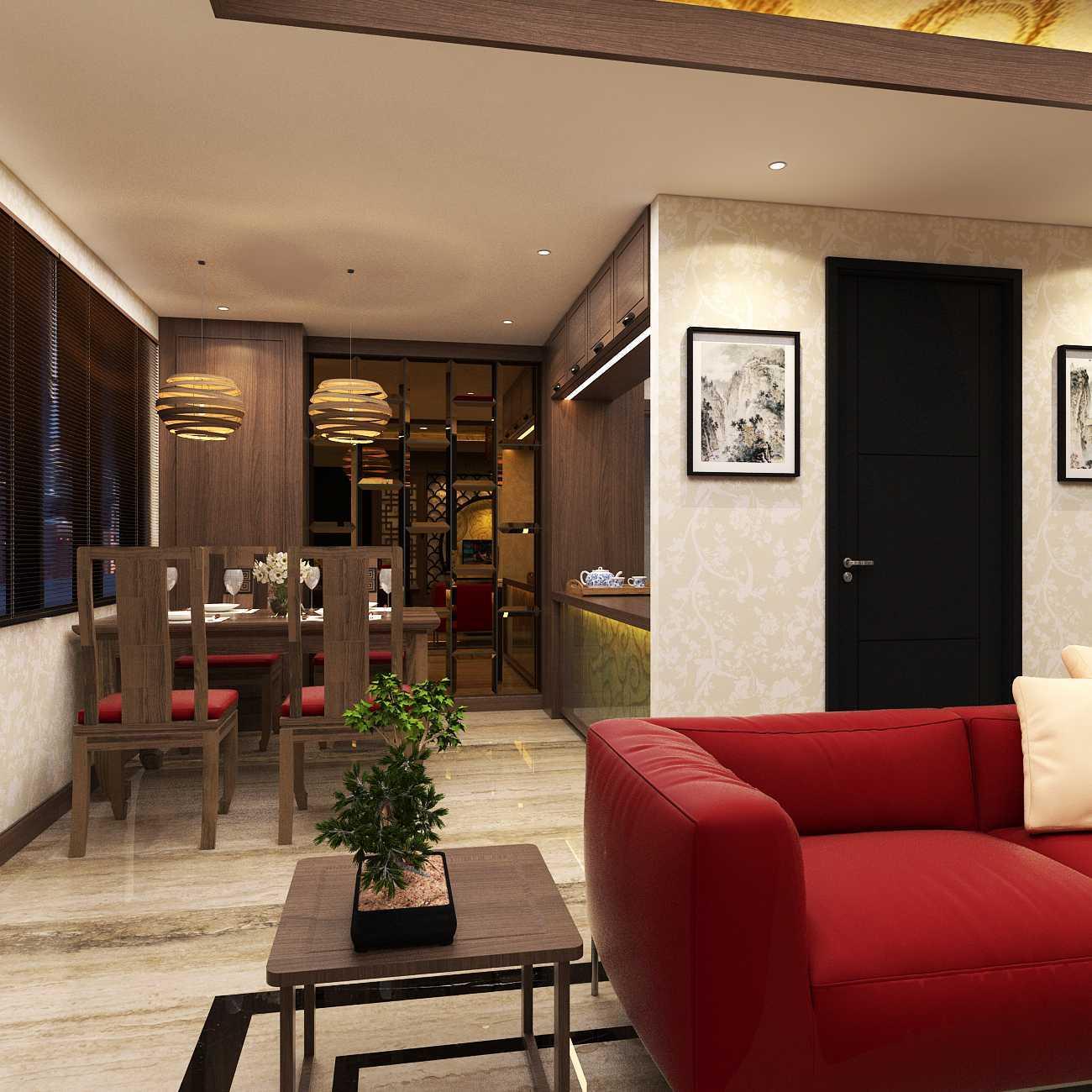 Foto inspirasi ide desain ruang makan asian Asian house hegarmanah - dining room oleh D-CreArt Design di Arsitag