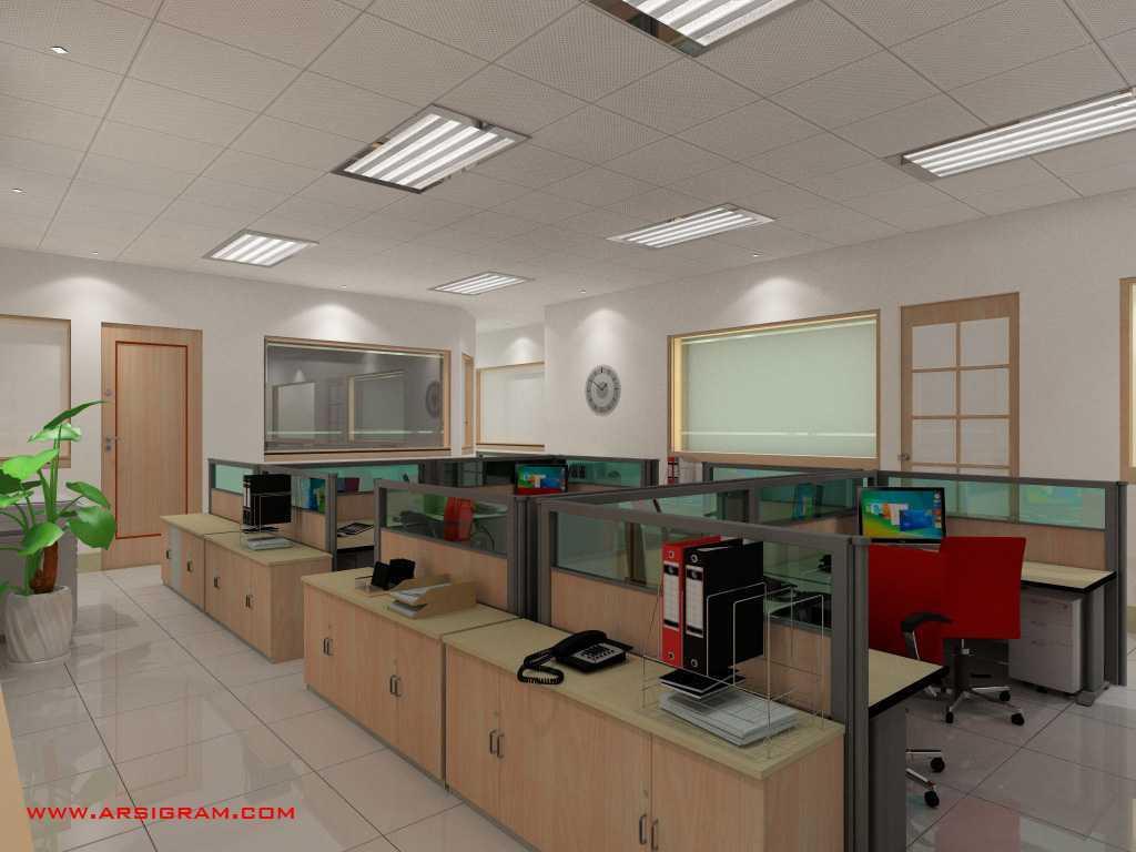 Foto inspirasi ide desain ruang kerja minimalis Working area oleh Arsigram di Arsitag