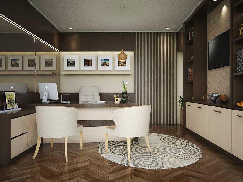 Foto inspirasi ide desain ruang kerja minimalis Minimalist office - workroom oleh maxx details interior di Arsitag