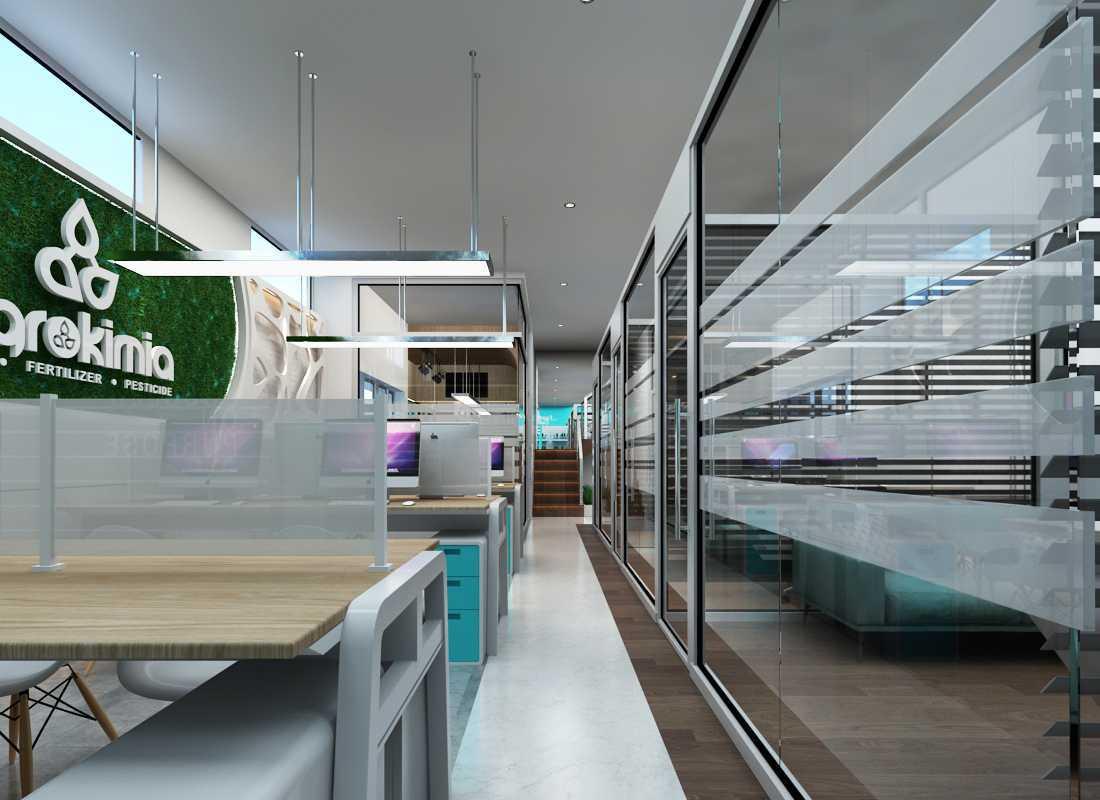 Foto inspirasi ide desain ruang kerja minimalis Office design & contractor - working area oleh Mora Project Arsitek & Interior di Arsitag