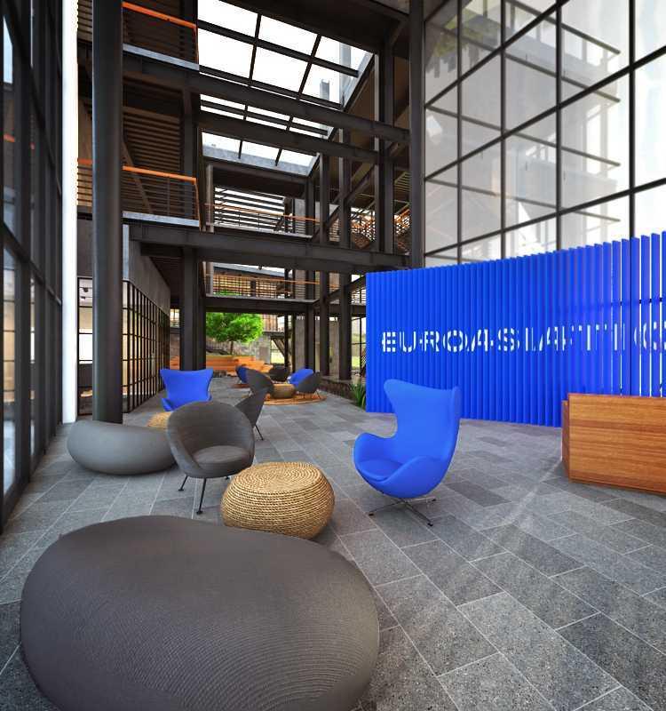 Foto inspirasi ide desain lobby industrial Lobby area oleh stanley di Arsitag