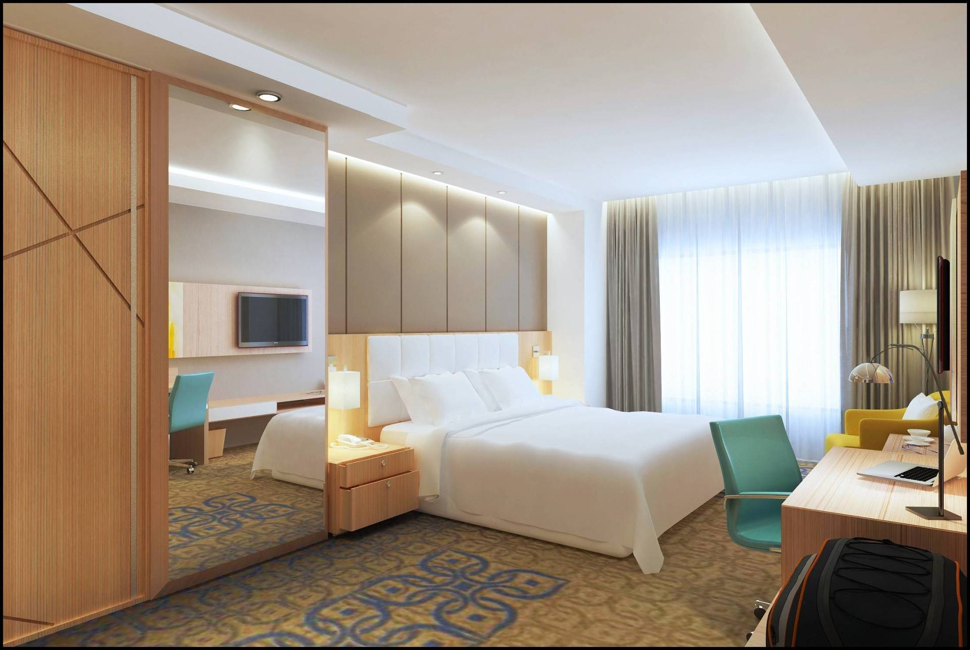 Miv Architects (Ar. Muhammad Ikhsan Hamiru, Iai & Partners) Interior Of Four Points Hotel By Sheraton, Makassar (Rooms, Swimming Pool, Fitness Center) Makassar, Sulawesi Selatan, Indonesia Makassar, Sulawesi Selatan, Indonesia Junior Suite Room   4978