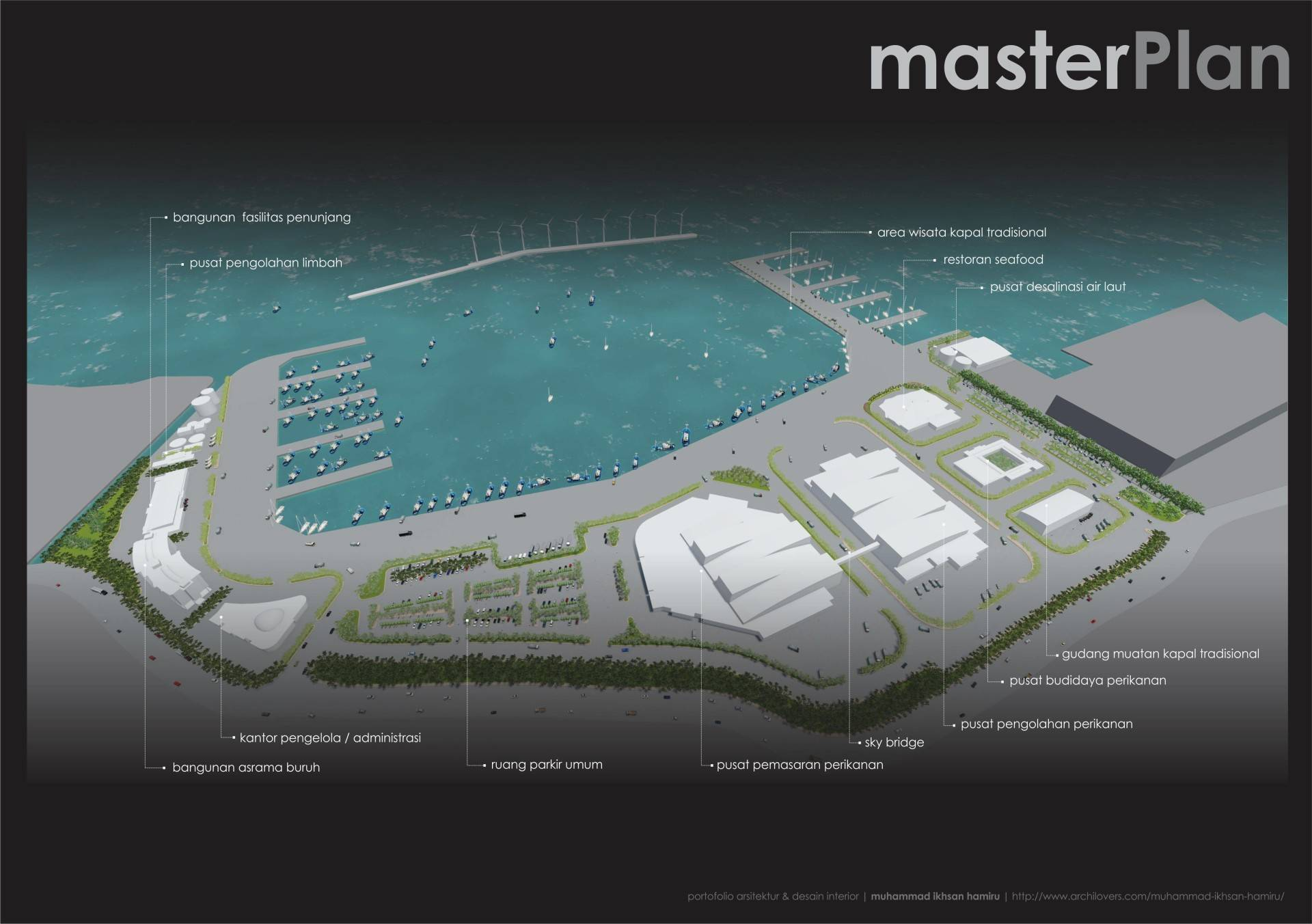 Miv Architects (Ar. Muhammad Ikhsan Hamiru, Iai & Partners) Concept Of Integrated Fishing Industry In Paotere, Makassar (Final Project Architecture Studio) Makassar, Sulawesi Selatan, Indonesia Makassar, Sulawesi Selatan, Indonesia Photo-5013 Industrial  5013