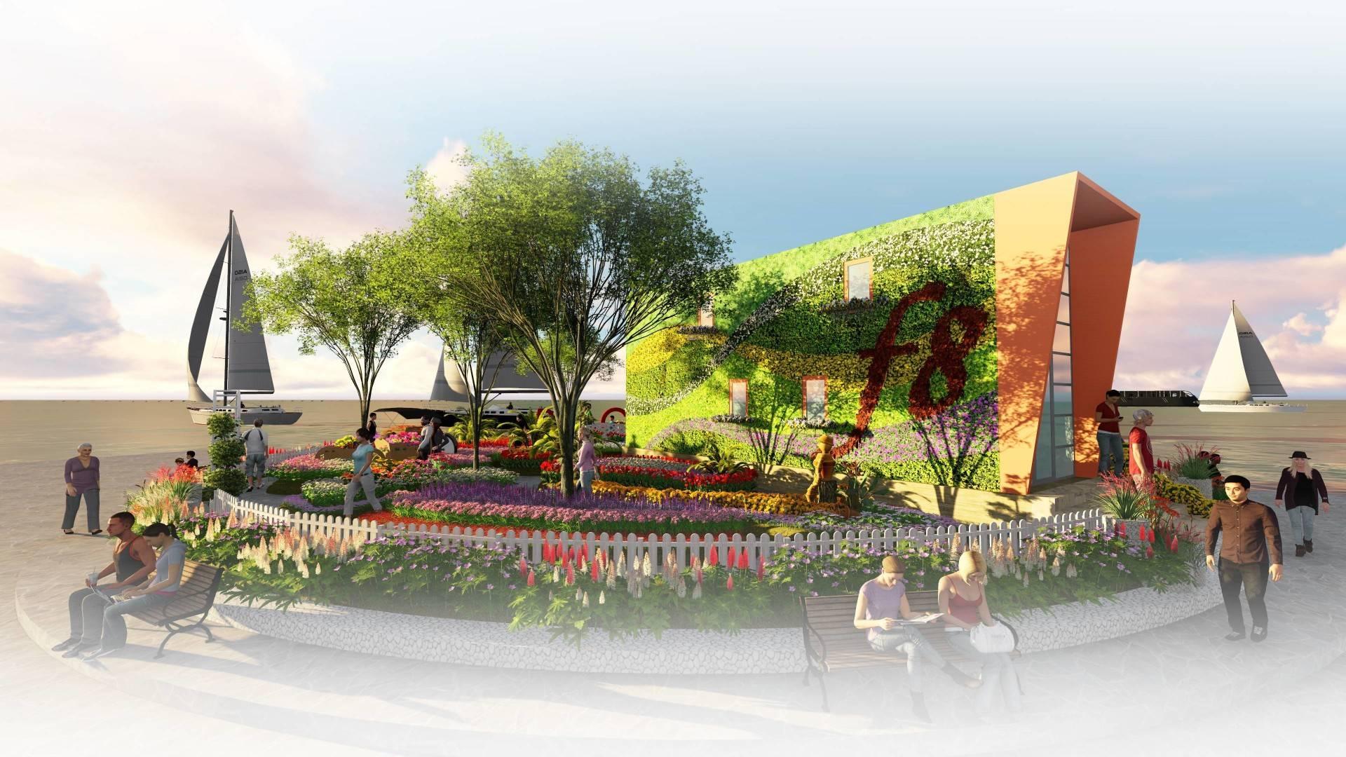 Miv Architects (Ar. Muhammad Ikhsan Hamiru, Iai & Partners) Design Of Flower Art Zone For Makassar International Eight Festival (September 8-10 2016) At Losari Beach, Makassar City, Indonesia Makassar, Sulawesi Selatan, Indonesia Makassar, Sulawesi Selatan, Indonesia Photo-6161 Tropis  6161
