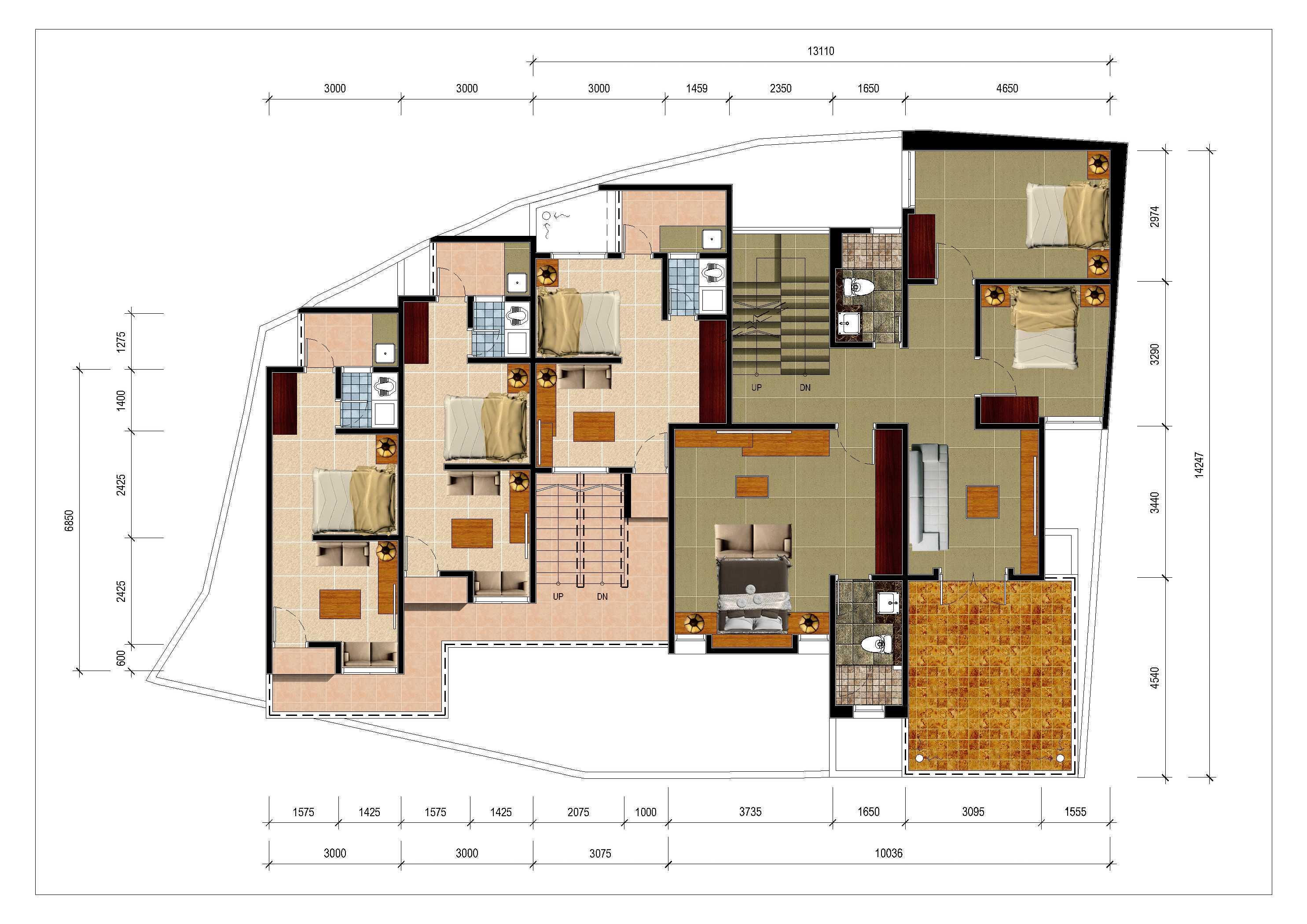 Denah Rumah Kontrakan Minimalis Type 21 - Sekitar Rumah