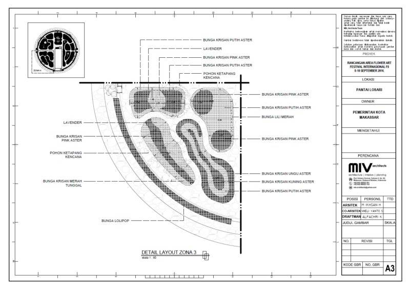 Miv Architects (Ar. Muhammad Ikhsan Hamiru, Iai & Partners) Design Of Flower Art Zone For Makassar International Eight Festival (September 8-10 2016) At Losari Beach, Makassar City, Indonesia Makassar, Sulawesi Selatan, Indonesia Makassar, Sulawesi Selatan, Indonesia 12D Tropis 7042