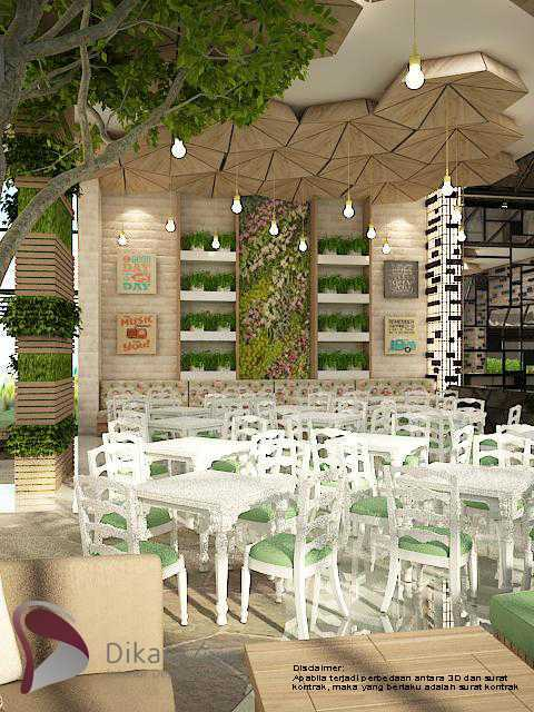 Photo The Breakfast Eco Green With Industrial Interior